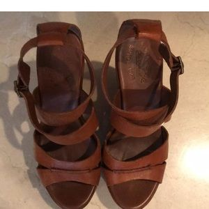 Kork-Ease Shoes - Kork-ease brown leather wedges. Great condition!